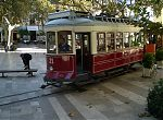 The Sóller tram passes through Placa de Sa Constitució